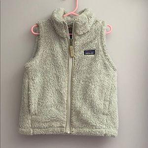 Girls Patagonia XS Sherpa grey zip vest